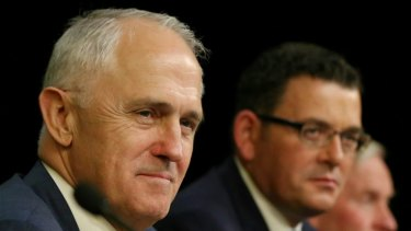 Federation flub: the Prime Minister and the premiers at Friday's COAG meeting.