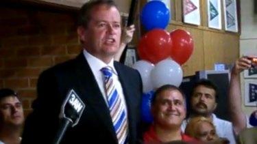 Cesar Melhem (red shirt) was the successor of Bill Shorten (wearing tie) as secretary of the AWU.
