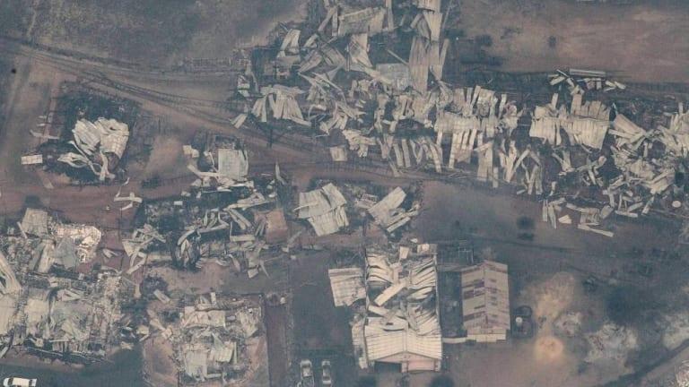 The bushfire left Yarloop in ruins.