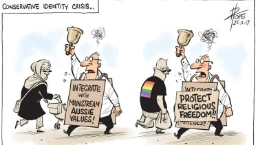 David Pope's cartoon for Saturday, November 25, 2017.