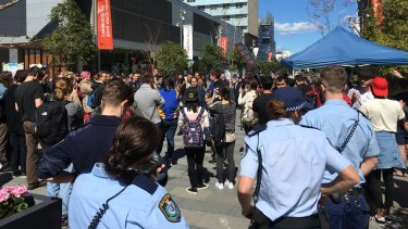 Police were called to the University of Sydney after an anti-same-sex marriage rally attracted a large number of counter-protesters.