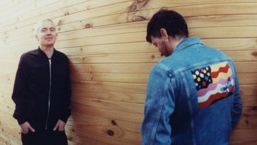 Headlining shows: Robbie Chater (left) and Tony Di Blasi of The Avalanches