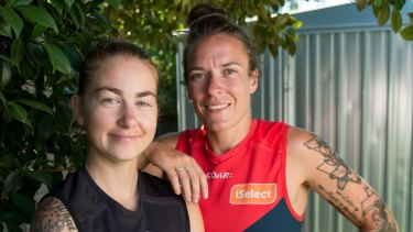 There'll be no love lost on Saturday when  Penny Cula-Reid (left) and Mia-Rae Clifford go head to head in the Melbourne v Collingwood game.