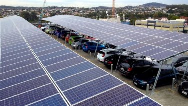 Innovative solar rooftop at Buranda's PA Central on Ipswich Road.