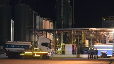 A man was injured following an explosion at an oil refinery in Bunbury.