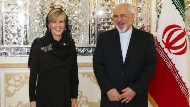 Foreign Affairs Minister Julie Bishop met Iranian Foreign Minister Dr Mohammad Javad Zarif in Tehran on Saturday.