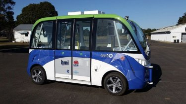 The trial of the automated shuttle bus will start later this month.