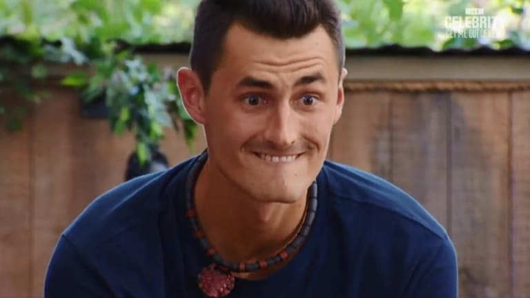 Bernard Tomic on Ten's I'm a Celebrity. The show had a strong premiere on Sunday.