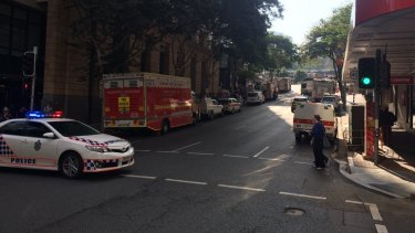 Creek Street between Adelaide and Ann was closed after reports of a 'strong gas smell'