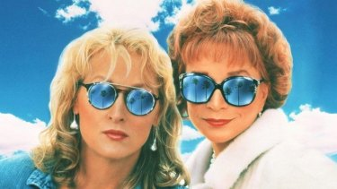 Meryl Streep as Suzanne Vale and Shirley MacLaine as Doris Mann in the 1990 film <i>Postcards From the Edge</i>, written by Carrie Fisher.