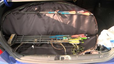 A weapon seized during a raid on an Islamic store in Logan, south of Brisbane.