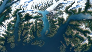 Google Maps' upgrade shows, in high resolution, how far the Columbia Glacier in Alaska has receded in the past 13 years.