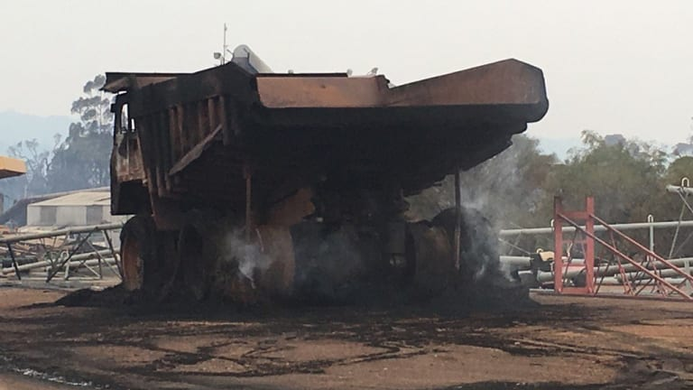 Murray Cowper snapped these photos of the devastation in Yarloop.