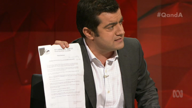 """""""I have it here"""": Sam Dastyari reminds Abetz of his old anti-LGBTI comments."""