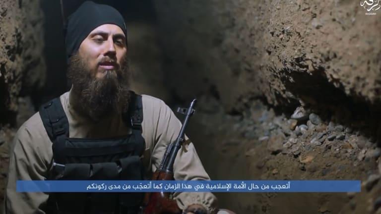 Perth doctor Tareq Kamleh, AKA Abu Youssef al-Australi, from an IS propaganda video.