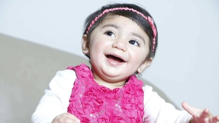 Toddler Zainab Mughal needs extremely rare blood to beat cancer.