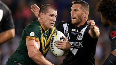 In form: Paul Gallen has not ruled out finishing his career with an Australian jumper.