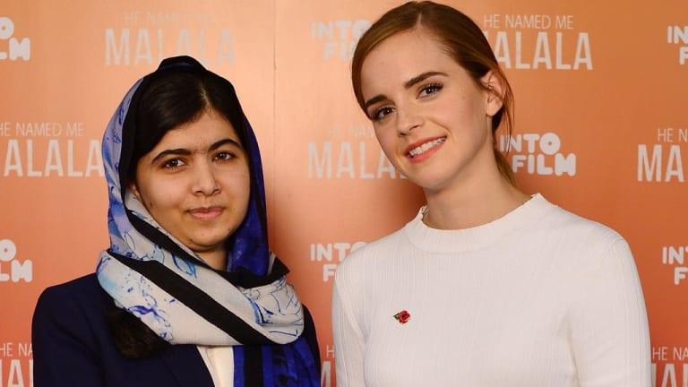 Malala Yousafzai with Emma Watson.