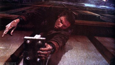Harrison Ford in a still from the film Blade Runner.