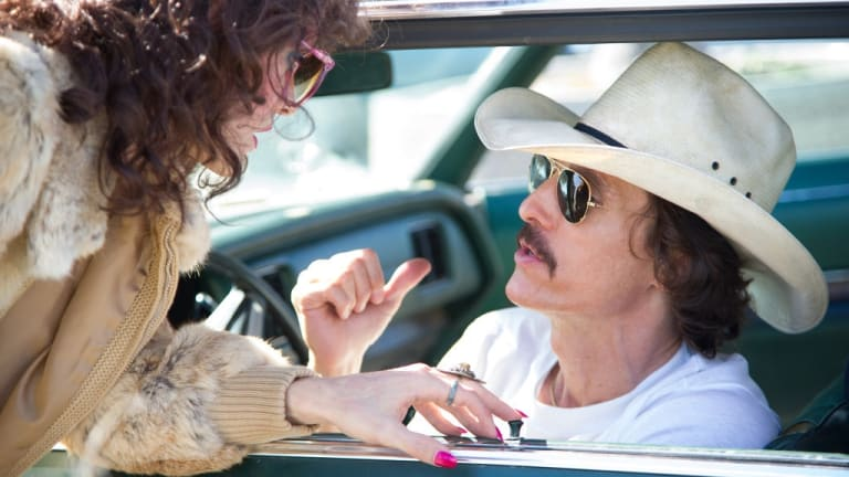 Jared Leto, left, and Matthew McConaughey in a scene from the film <i>Dallas Buyers Club</i>.