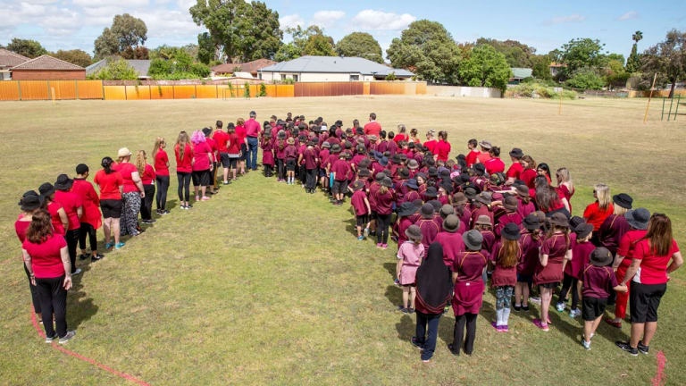 School kids from across Perth will be helping create the world's biggest blood drop on Australia Day.