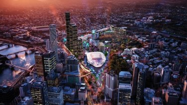 An artists impression of the proposed $2 billion entertainment precinct.