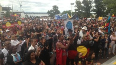 About 700 people turned out in support of keeping Aboriginal communities open in WA.