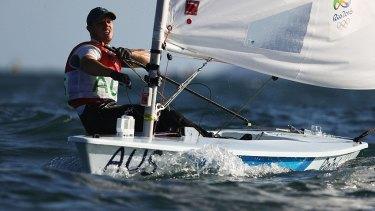Tom Burton of Australia sailed into gold on Wednesday in Rio.
