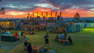 The Sunset Veranda, one of the Fringe Festival's 'satellite' venues.