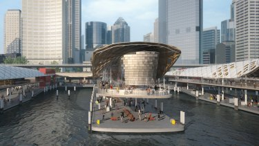 Early concept designs of the $200 million redevelopment of the ferry wharves at Circular Quay.