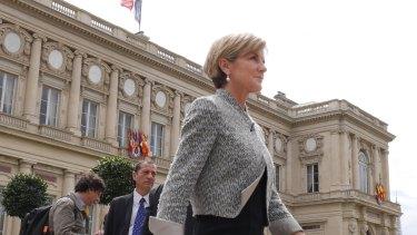 Julie Bishop in Paris.
