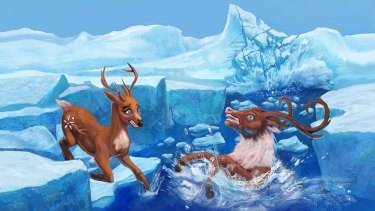 Vixen the reindeer attempts to save Santa's village, while the North Pole cracks up and begins to melt.