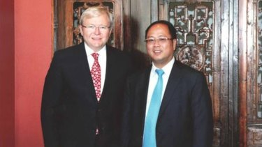 Huang Xiangmo with former prime minister Kevin Rudd.