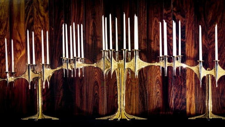 Stuart Devlin's candelabrum  for the 5th Duke of Westminster.