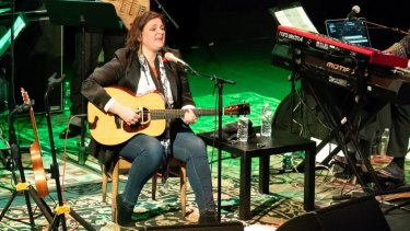 Madeleine Peyroux performing in Tarrytown, New York in April.