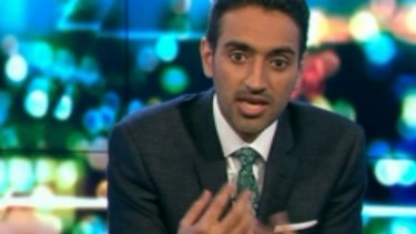"""Let's do this"": Waleed Aly on The Project on Monday night."