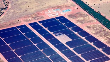AGL's solar plant at Nyngan is Australia's largest at 102 megawatt-capacity.