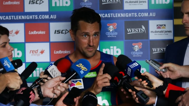 New surrounds, same pressure: Knights signing Mitchell Pearce.
