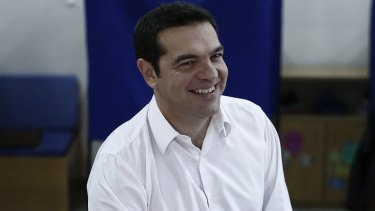 Alexis Tsipras, once again prime minister.