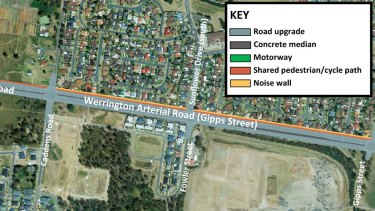Stage 1 of the Werrington arterial road.