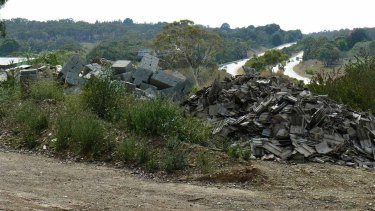 Rubbish from ACT construction sites has also been dumped at a Bywong property.