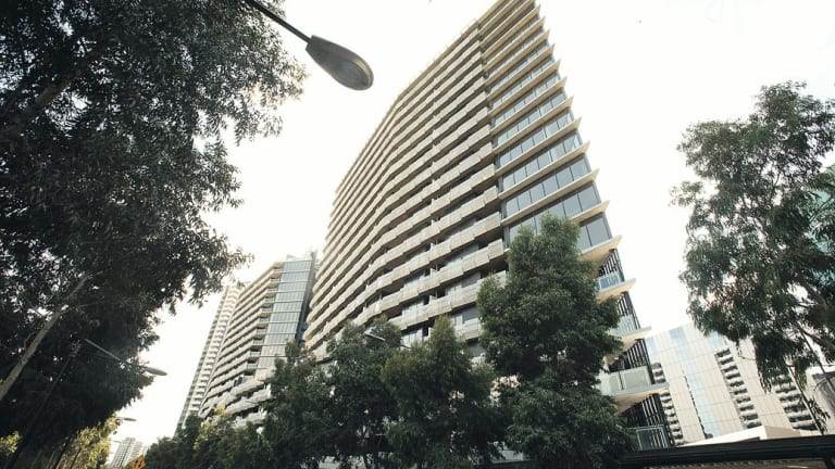 The Watergate apartments in Docklands. The building's owners have been fighting a losing battle to stop apartment owners offering short-stay accommodation.