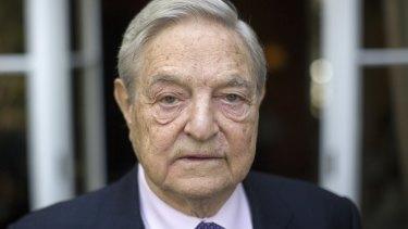 Billionaire hedge fund manager and democracy activist George Soros.