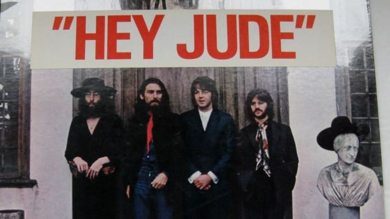 The cover for Hey Jude by The Beatles. Judith Simons was one of the inspirations for the song title.