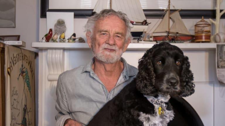 Children's book author and illustrator Bob Graham and Alfie.