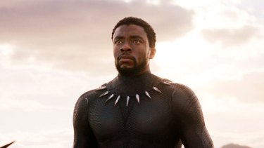 """An incredibly serious and charismatic actor but he also has a deep-seated knowledge and curiosity about African culture"": Chadwick Boseman in <i>Black Panther</i>."