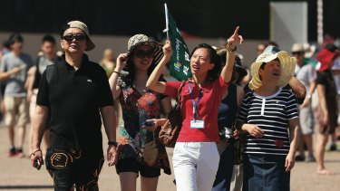 Chinese visitors spend $7.7 billion a year in Australia and are tipped to spend more.