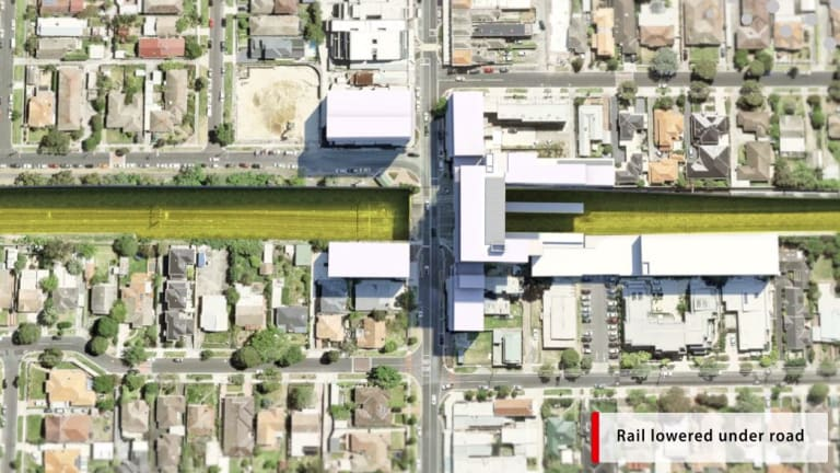 Rail lines will be lowered under McKinnon Road and a new station built.