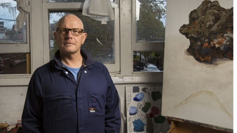Andrew Sayers in his studio in Richmond, Melbourne earlier this year.