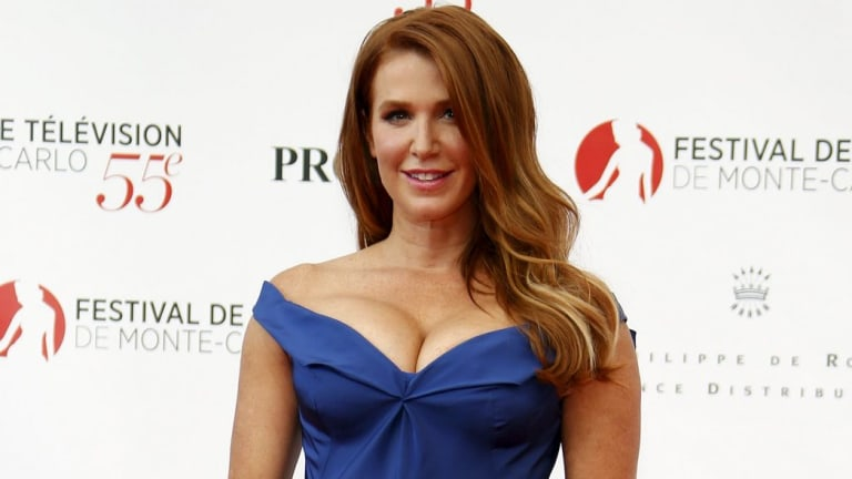 Australian actress Poppy Montgomery takes to the red carpet at the 55th Monte Carlo Television Festival in Monaco on Saturday.